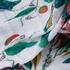 美人条 植物 印花 全涤 压皱 衬衫 连衣裙 女装 春秋 71113-31