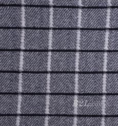 毛纺 格子 粗纺 提花 色织 羊毛 绒感 无弹 秋冬 大衣 外套 女装 80720-15
