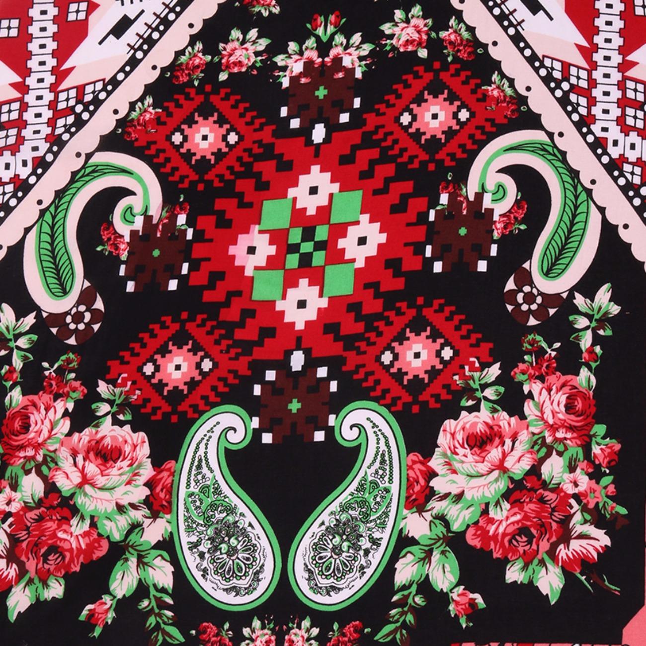 人棉期货几何梭织印花无弹衬衫连衣裙 短裙 薄 棉感 70522-57