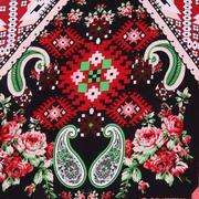 人棉期貨幾何梭織印花無彈襯衫連衣裙 短裙 薄 棉感 70522-57