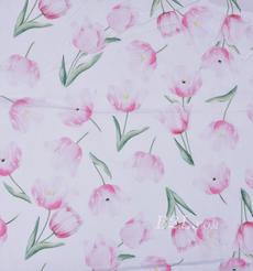 期貨 印花 針織 汗布 花朵 低彈 薄 連衣裙 襯衫 四季 女裝 童裝 80302-6