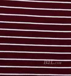 条子 横条 圆机 针织 纬编 T恤 针织衫 连衣裙 棉感弹力 80609-1