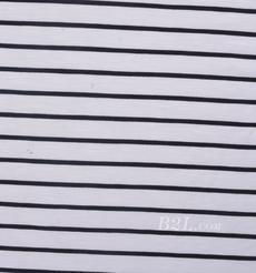 条子 横条 圆机 针织 纬编 T恤 针织衫 连衣裙 棉感弹力 80131-8