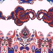 人棉期貨 腰果花 梭織 印花 無彈 襯衫 連衣裙 短裙 薄 棉感 70522-56