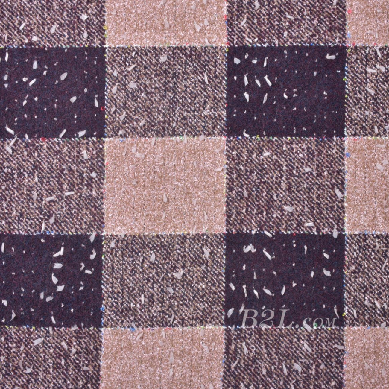 毛纺 梭织 染色 格子 斜纹 秋冬 大衣 时装 女装 91004-5