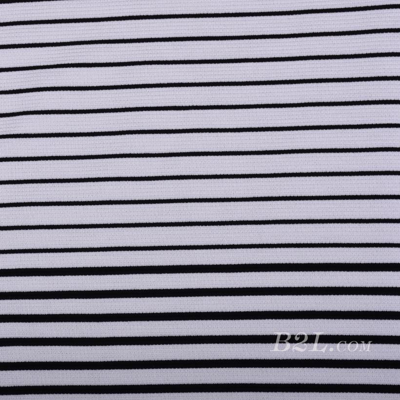 楼梯布 坑条 条子 横条 圆机 针织 纬编 T恤 针织衫 连衣裙 定位 棉感弹力 期货 60311-12