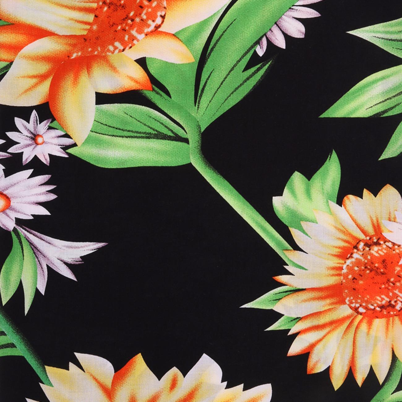 人棉期货花朵梭织印花无弹衬衫连衣裙 短裙 薄 棉感 70522-65