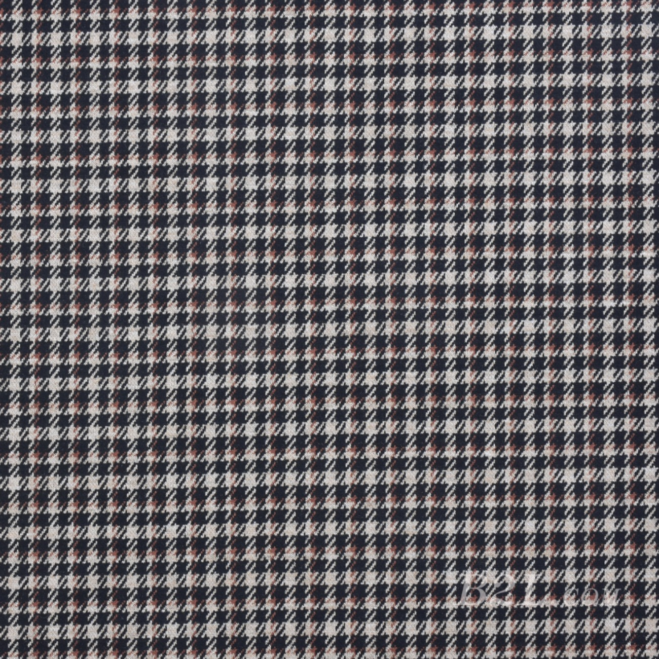 针织染色千鸟格毛纺面料-春秋冬大衣外套半身裙面料Z746