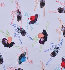 芭蕾舞者 期货 梭织 印花 连衣裙 衬衫 短裙 薄 女装 春夏 60621-126