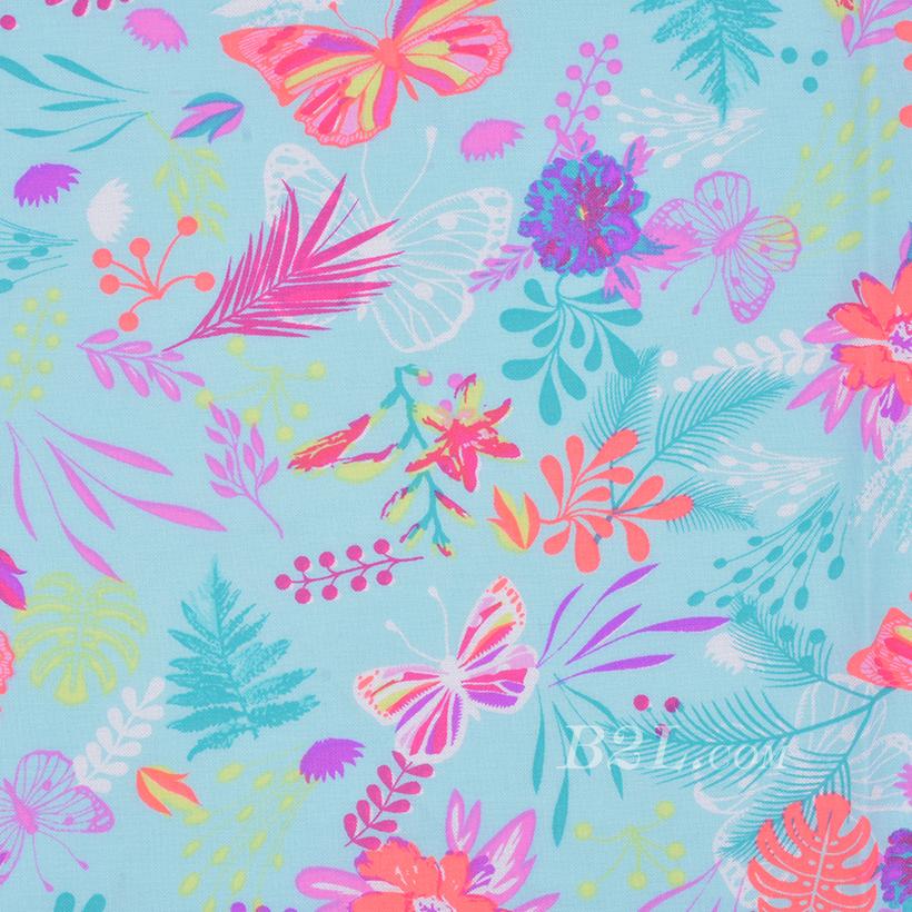 期货 印花 全人棉 梭织 花朵 荧光 低弹 薄 连衣裙 衬衫 四季 女装 童装 80302-32