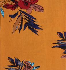 人棉皺 現貨 花朵 梭織 印花 無彈 襯衫 連衣裙 短裙 棉感 薄 70522-20