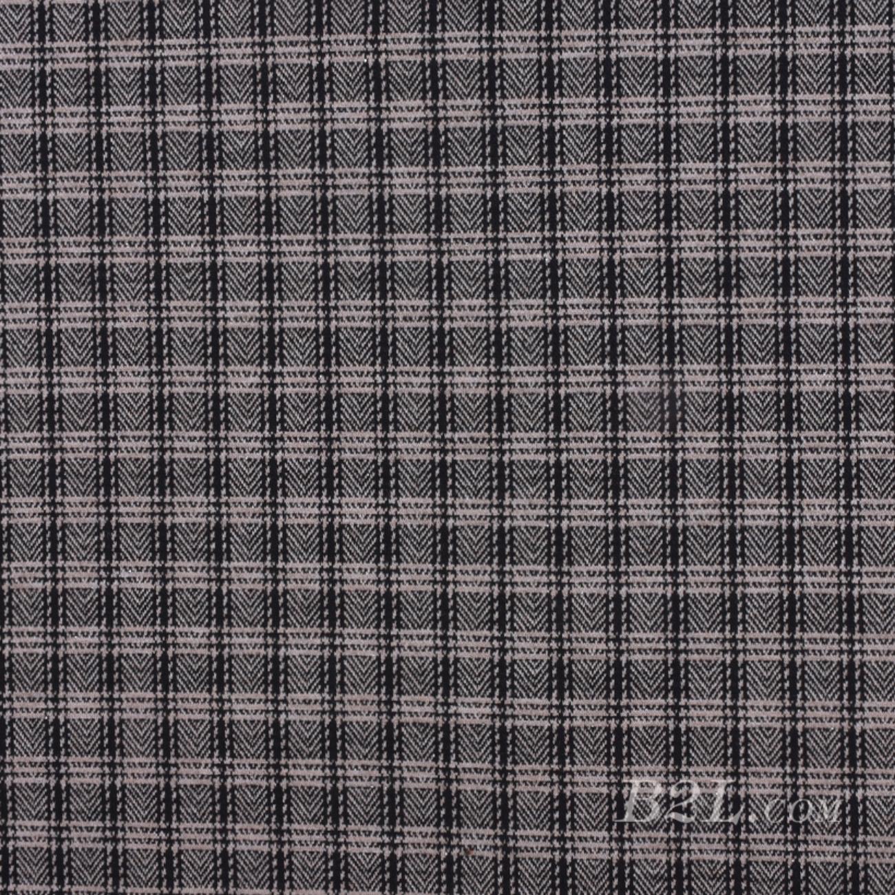 针织染色格子面料-春秋冬休闲服外套面料Z931
