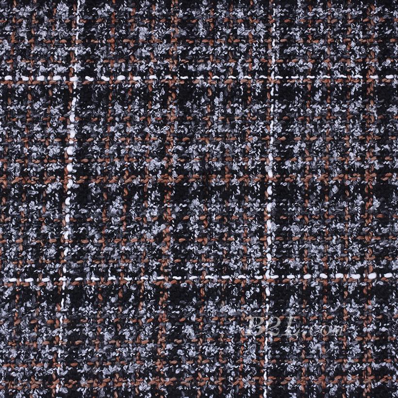 期货 格子 毛呢 粗纺 梭织 色织 提花 无弹 外套 西装 短裤 风衣 柔软 粗糙 绒感 女装 冬 70820-6