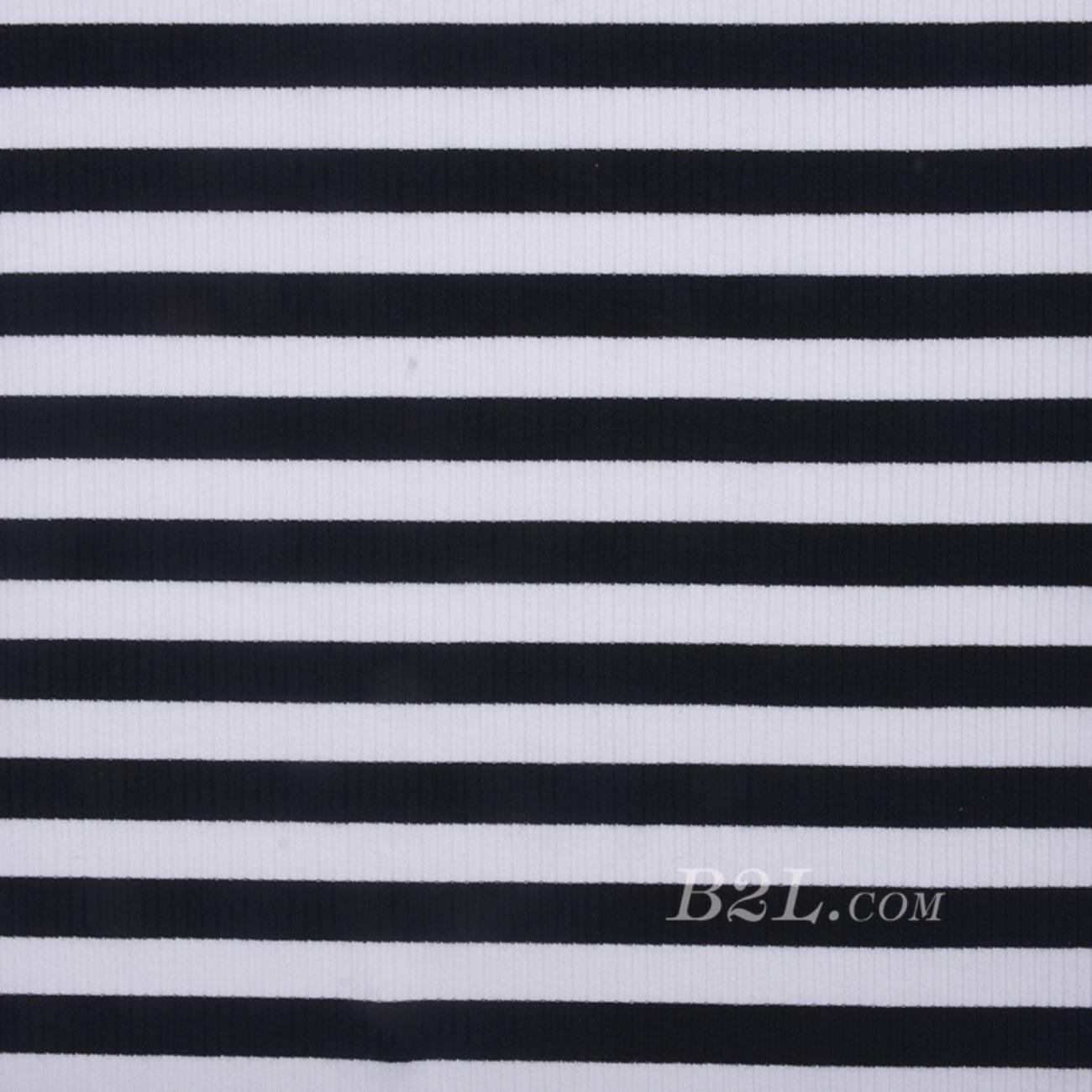 条子 横条 圆机 针织 纬编 棉感 弹力  T恤 针织衫 连衣裙 男装 女装 80131-43