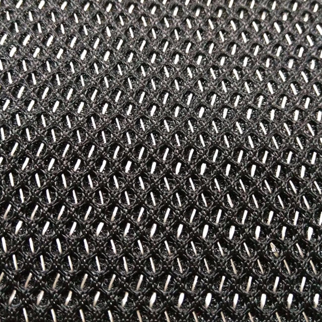 黑白圆孔三明治网眼布料