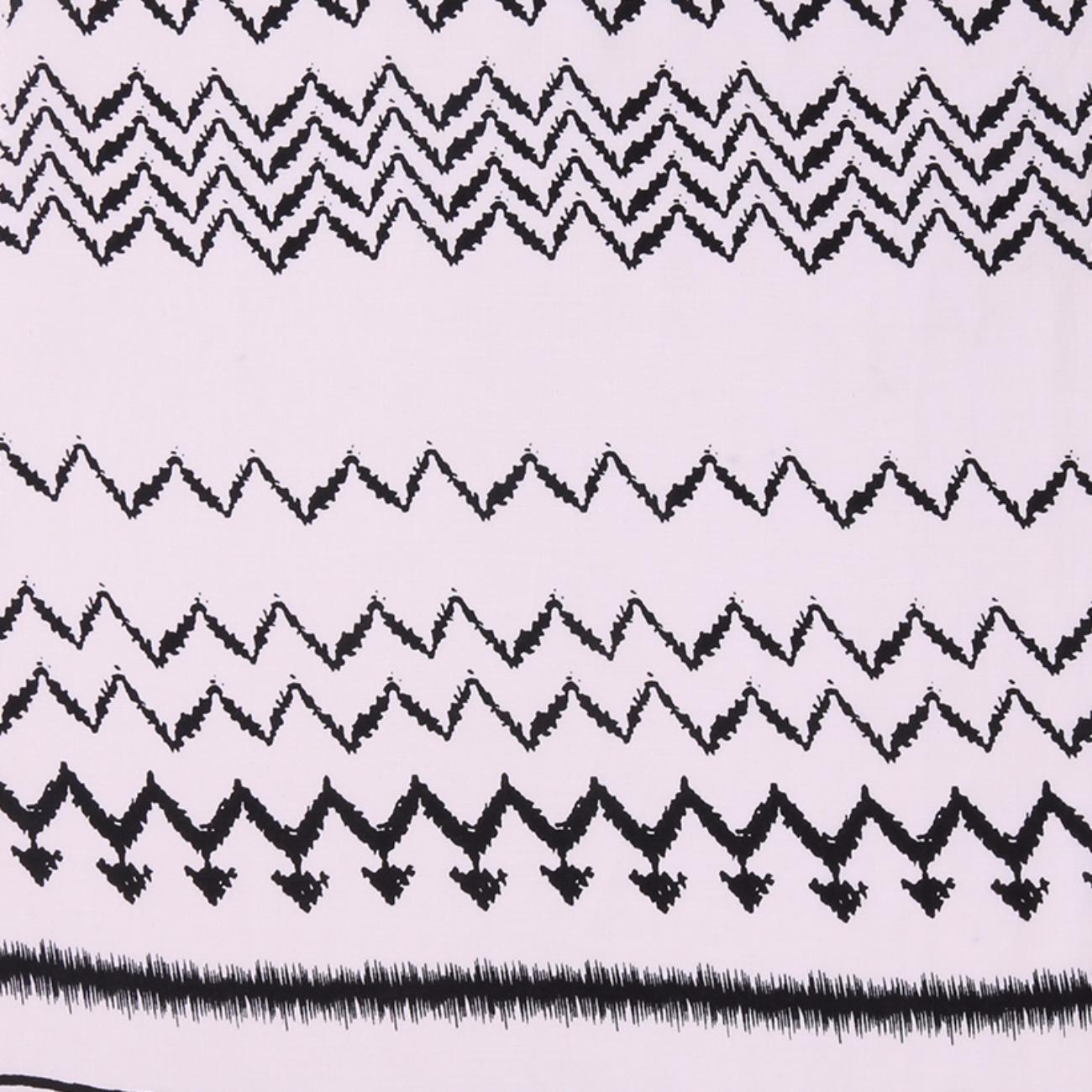 人棉期货定位波浪纹 梭织 印花 无弹 衬衫 连衣裙 短裙 薄 棉感 70522-48