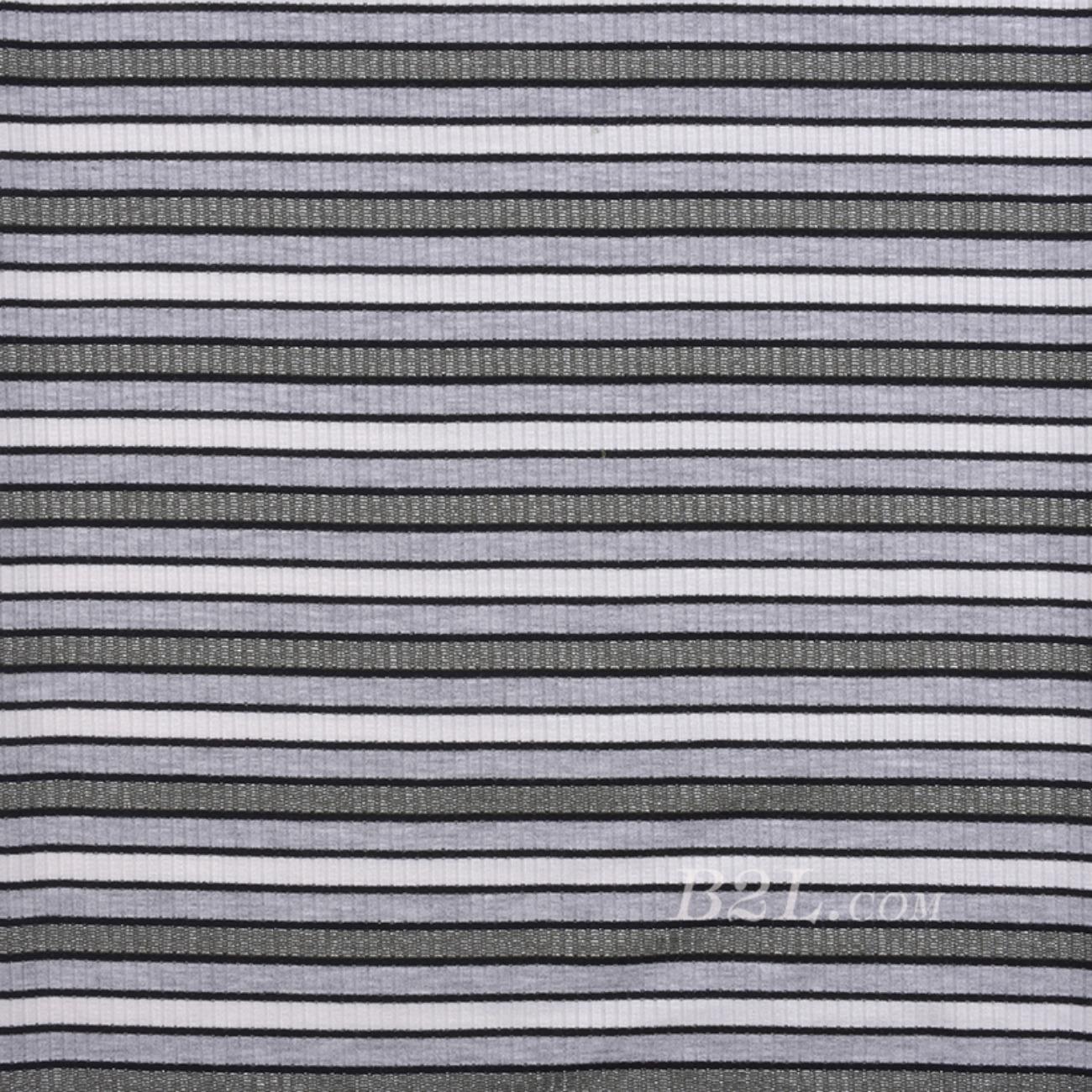 条纹 针织 横条 金属丝 高弹 棉感 春秋 T恤 针织衫 连衣裙 80905-27