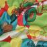 汽车 期货 涂鸦 梭织 印花 连衣裙 衬衫 短裙 薄 女装 春夏 60621-121
