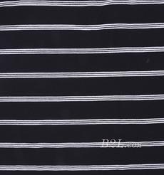 条子 横条 圆机 针织 纬编 棉感 弹力 T恤 针织衫 连衣裙 80131-2