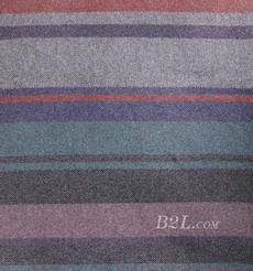 條紋 呢料 柔軟 羊毛 大衣 外套 女裝 70821-1