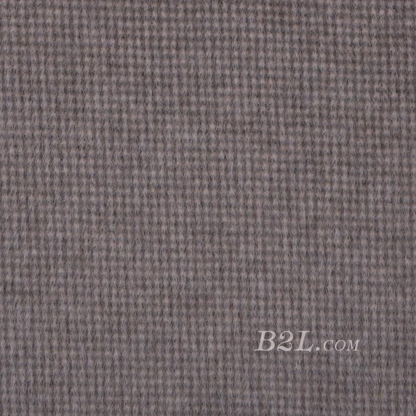 毛纺 梭织 羊毛 格子 绒感  双面尼 厚 大衣 秋冬 女装 80322-9