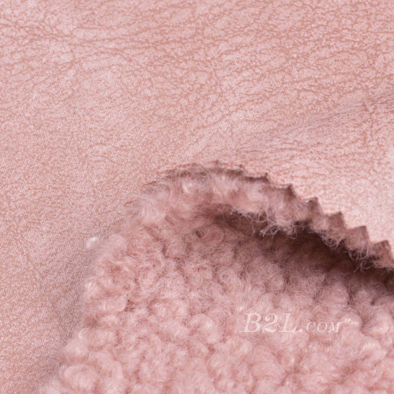 现货供应染色的素色皮毛一体面料-春秋冬款大衣外套夹克马甲面料90313-22