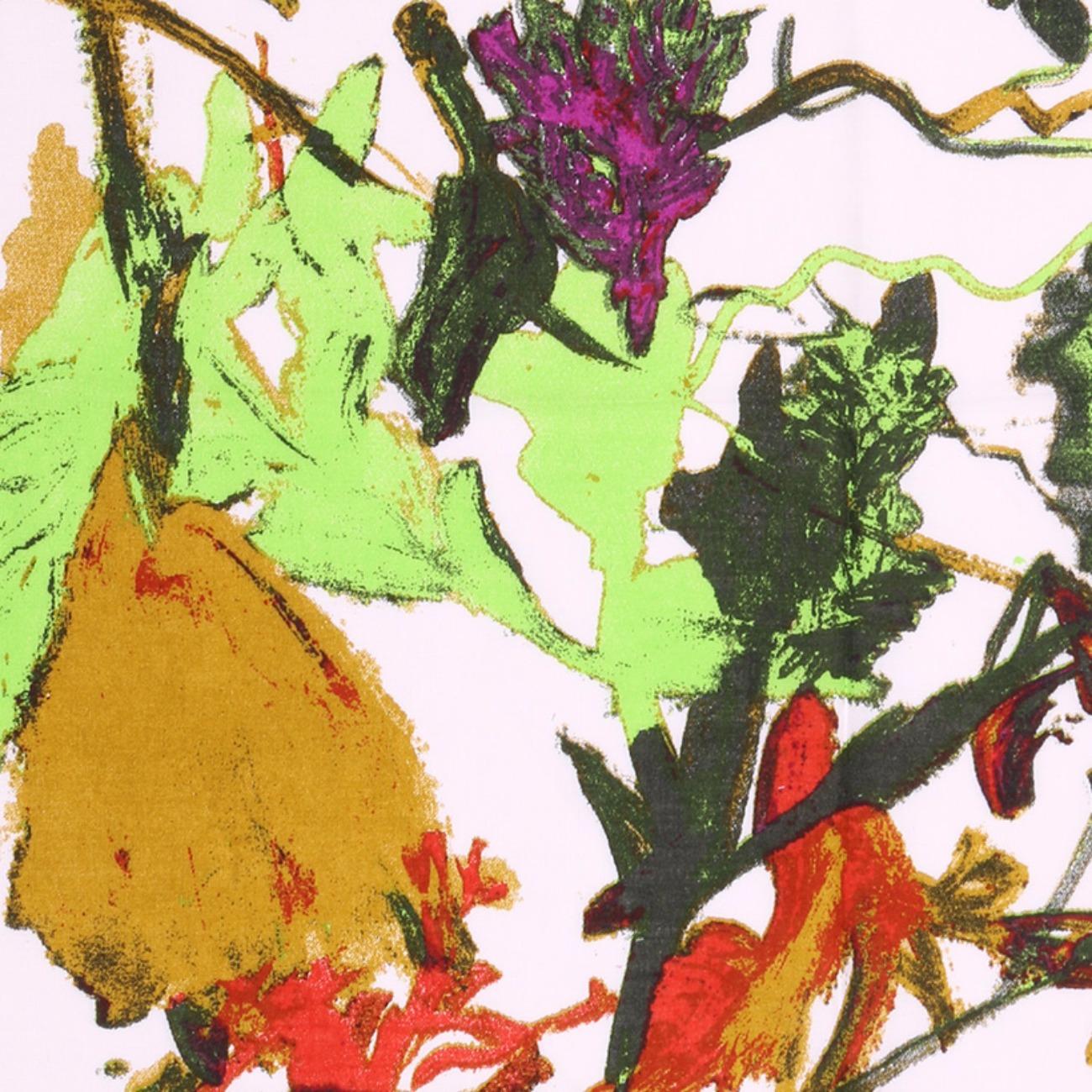 人棉期貨抽象花朵梭織印花無彈襯衫連衣裙 短裙 薄 棉感 70522-53