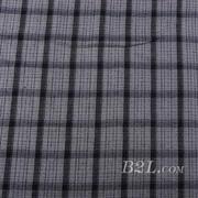 梭织 格子 棉感 色织 斜纹 无弹 外套 衬衫 大衣 裤子 60620-16