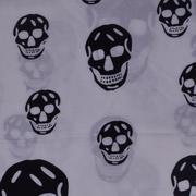 人棉期货骷髅头 梭织 印花 无弹 衬衫 连衣裙 短裙 薄 棉感 70522-49