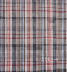 格子 梭织 低弹 色织 薄 春秋 女装 连衣裙 短裙 81101-12