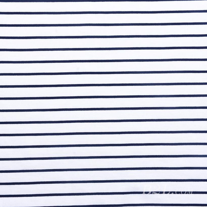 条子 横条 圆机 针织 纬编 T恤 针织衫 连衣裙 棉感 弹力 罗纹 60312-21