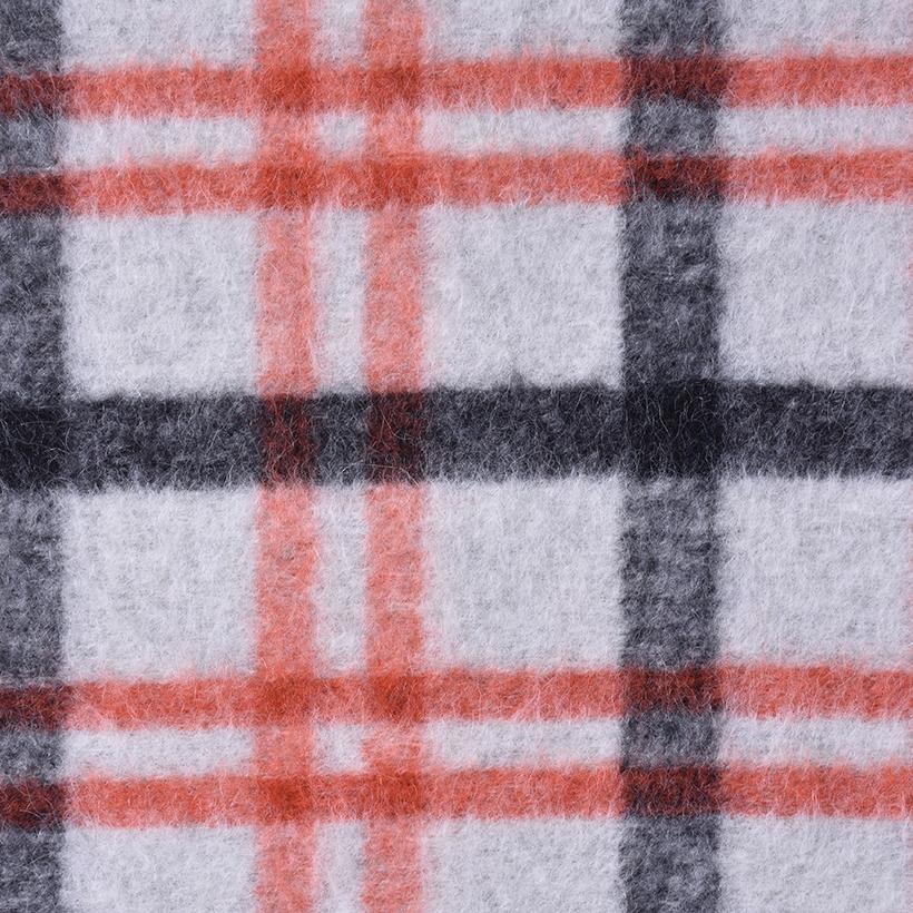格子 呢料 柔软 羊毛 大衣 外套 女装 70410-66