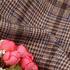 格子 千鸟格 无弹 毛纺 色织 柔软 绒感 大衣 外套 短裙 女装 秋冬71130-12