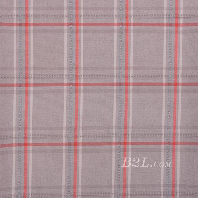 格子 低弹 色织 梭织 衬衫 短裙 女装 春秋 71229-5