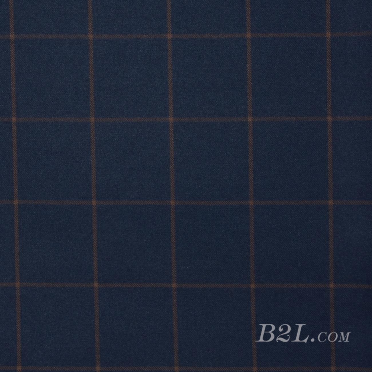 梭织染色毛纺格子面料-秋冬外套大衣面料90910-23