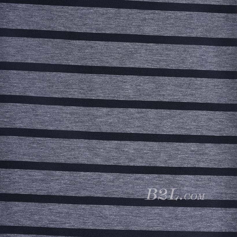 针织染色横条纹面料-春夏秋款连衣裙针织衫面料60312-29
