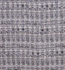 毛纺 粗纺 格子 粗花呢 提花 色织 无弹 香奈儿风 粗糙 秋冬 大衣 外套 女装 80701-3