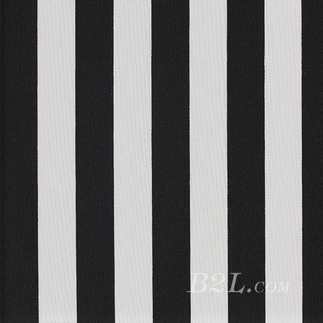 条纹 全涤 针织 单面 弹力 背心裙 连衣裙 短袖 60401-6