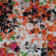 期货 印花 花朵 全涤 无弹 轻薄 连衣裙 衬衫 女装 60804-42