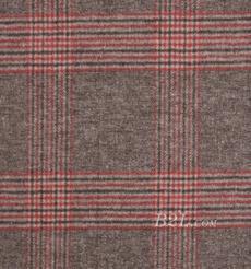 毛纺 梭织 格子 低弹 毛呢 柔软 羊毛 秋冬 大衣 外套 女装 81102-13