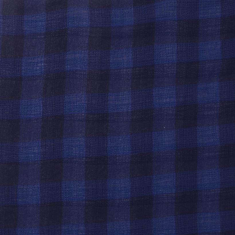 梭织 无弹 色织 全涤 雪纺 柔软 连衣裙 衬衫 70305-31