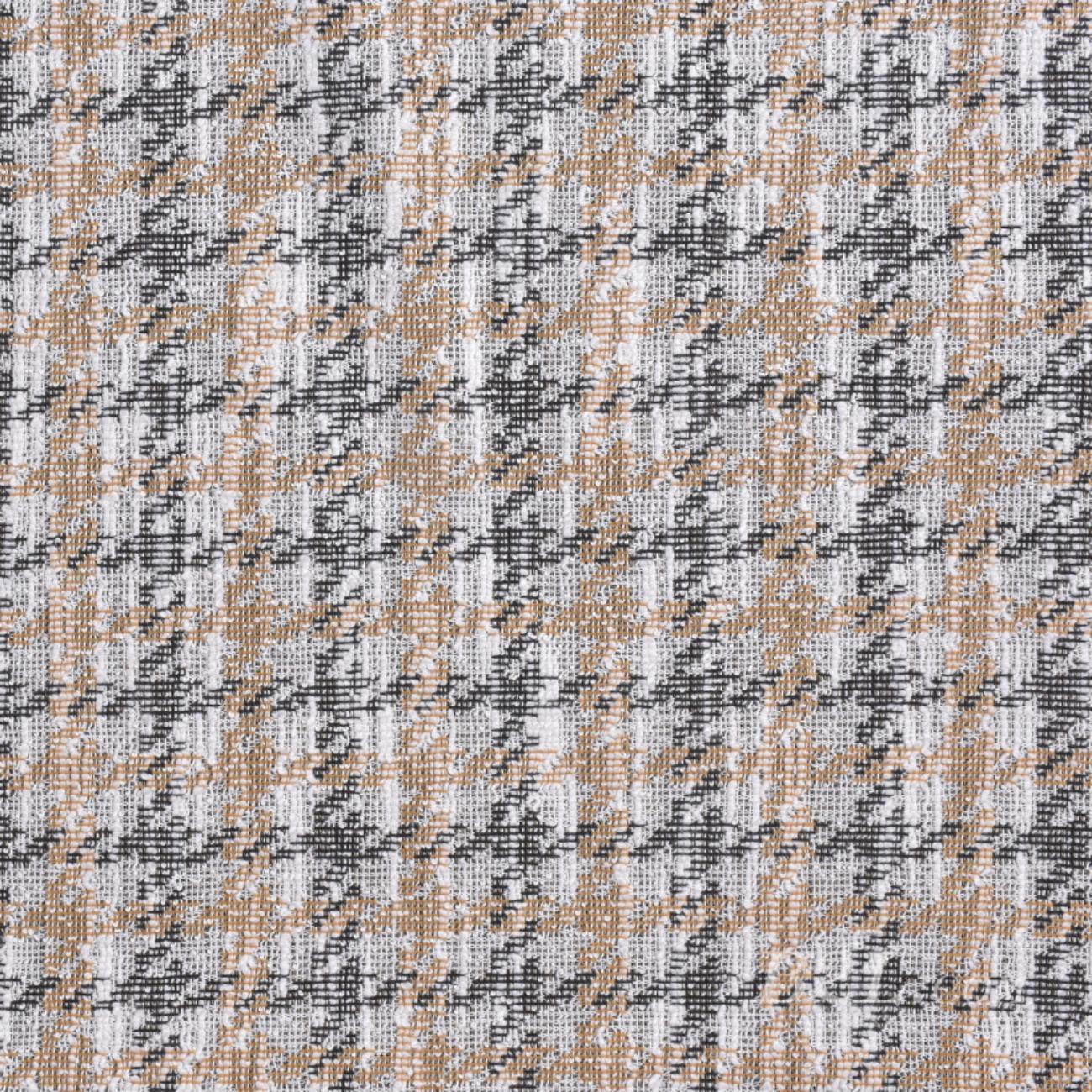 針織染色粗紡小香風格子面料-春秋冬褲裝外套大衣面料Z753
