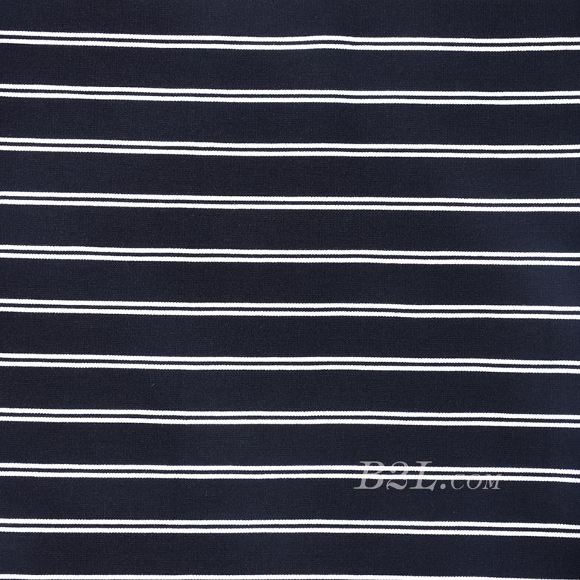 针织染色圆机罗纹条纹面料-春秋冬款连衣裙休闲服针织衫面料60312-32
