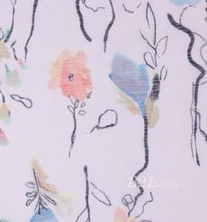 燕窝丝 花朵 梭织 印花 无弹 衬衫 连衣裙 薄 春夏 女装 期货 71227-9