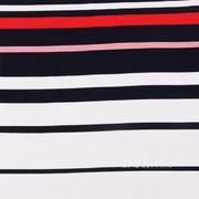 樓梯布 坑條 條子 橫條 圓機 針織 緯編T恤 連衣裙針織衫 定位棉感彈力 期貨 60311-1