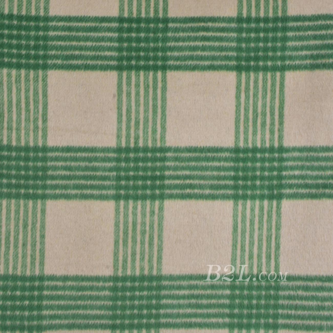 毛纺 格子 梭织 色织 羊毛 低弹 绒感 秋冬 外套 大衣 80917-5