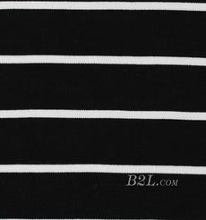 条子 横条 圆机 针织 纬编 T恤 针织衫 连衣裙 棉感 弹力 罗纹 期货 60312-12