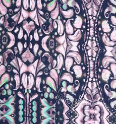 弹力直条印花 桑蚕丝 几何 梭织 印花 高弹 连衣裙 衬衫 女装 夏 80108-45