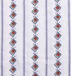 全人棉 人棉皱 几何 梭织 印花 低弹 连衣裙 衬衫 女装 春秋 71204-5