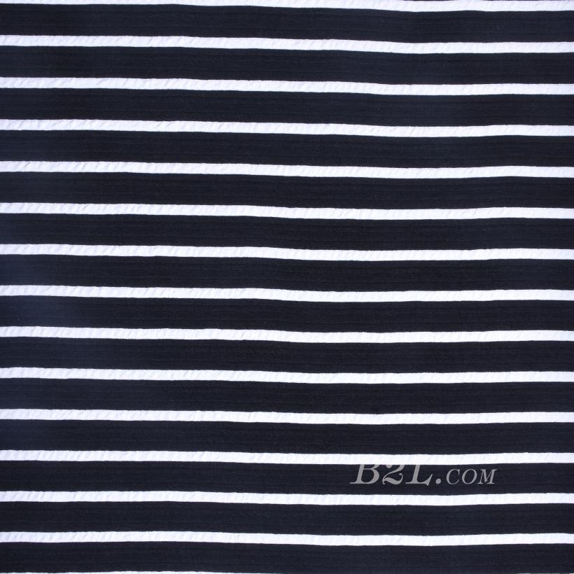 针织染色横条纹面料-春夏秋款连衣裙针织衫面料60312-31